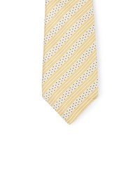 Jaeger Textured Repp Stripe Tie Gold