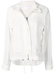 Helmut Lang Parachute Short Trench White