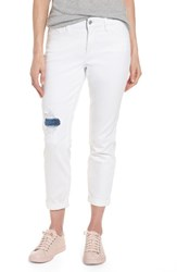 Nydj Women's Ripped Stretch Ankle Jeans