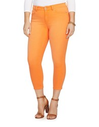 Lauren Ralph Lauren Plus Premier Cropped Skinny Jeans Cabana Orange