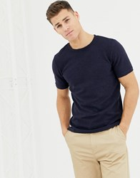 Selected Homme Relaxed Fit Longline T Shirt In Navy