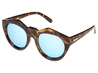 Le Specs Neo Noir Milky Tort Ice Blue Revo Mirror Fashion Sunglasses Brown