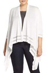 Plus Size Women's Vince Camuto Drape Front Cardigan New Ivory