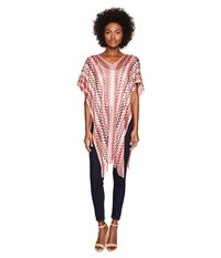 Missoni Poncho Multi Pink Red Women's Clothing