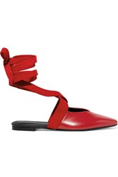 J.W.Anderson Leather And Suede Ballet Flats Red