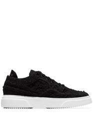 By Walid Embroidered Low Top Sneakers Black