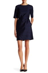 Canvas By Lands' End Elbow Sleeve Shift Dress Multi