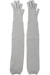Rick Owens Wool Gloves Gray