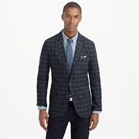 J.Crew Ludlow Sportcoat In Black Watch Cotton