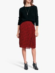 Hush Dionne Floral Skirt Floral Black Red