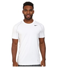 Nike Hypercool Fitted S S White Matte Silver Black Men's Short Sleeve Pullover