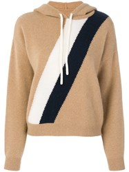 Juicy Couture Striped Hoodie Cashmere Nude Neutrals