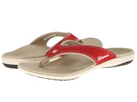 Spenco Yumi Canvas True Red Women's Toe Open Shoes