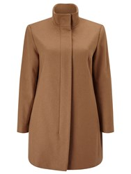 Eastex Buckle Neck Wool Coat Brown