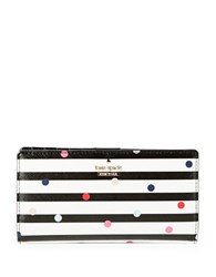 Kate Spade Striped And Polka Dotted Wallet Multi
