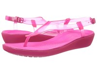 Crocs Really Sexi T Strap Sandal Candy Pink Candy Pink Women's Sandals