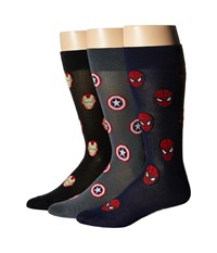 Cufflinks Inc. Marvel Heroes 3 Pair Socks Gift Set Multi Men's Crew Cut Socks Shoes