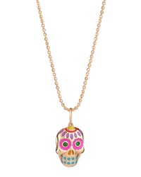 Sydney Evan 14K Rose Gold Skull Pendant Necklace