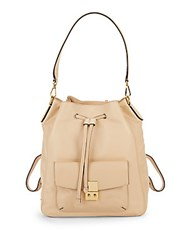 Cole Haan Alanna Convertible Leather Backpack Nude