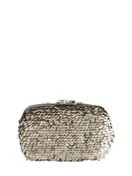 Corto Moltedo Susan Metallic Sequined Clutch