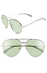 Polaroid 59Mm Polarized Aviator Sunglasses Green