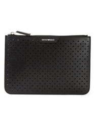 Emporio Armani Perforated Clutch Set