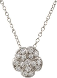 Linda Lee Johnson Women's Diamond And Platinum June Pendant Necklace Col Colorless