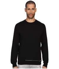 Dsquared Wool Pullover With Zipper Black Men's Sweater