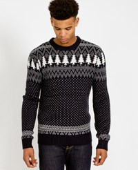 The Idle Man Christmas Jumper Navy