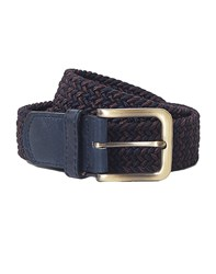 The Idle Man Elastic Weave Belt Burgundy And Navy