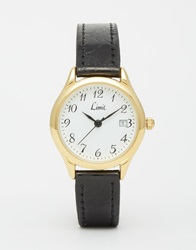 Limit Midi Gold Face Watch Black