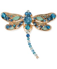 Anne Klein Gold Tone Blue Crystal Dragonfly Pin A Macy's Exclusive Style