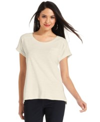 Styleandco. Style And Co. Petite Short Sleeve Tee Stonewall