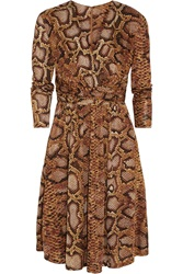 Altuzarra For Target Python Print Satin Jersey Dress Animal Print