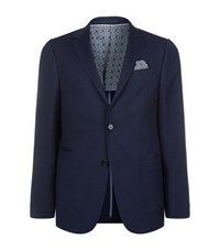 Z Zegna Honeycomb Textured Tailored Jacket Male Navy