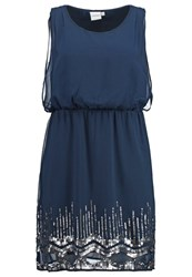 Junarose Jrrenee Cocktail Dress Party Dress Black Iris Dark Blue