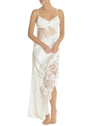 Jonquil Carina Lace Inset Satin Nightgown Ivory