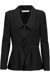 Oscar De La Renta Chelsea Wool Blend Boucl And Eacute Jacket Black