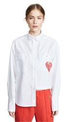 Maison Kitsune Verona Button Down Shirt White