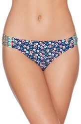 Laundry By Shelli Segal Bikini Bottoms Blue Multi