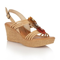 Lotus Selina Wedge Sandals Natural