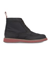 Swims Navy Blue And Black Waterproof Barry High Brogue Boots