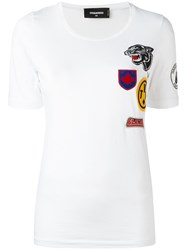 Dsquared2 Patch Detail T Shirt White