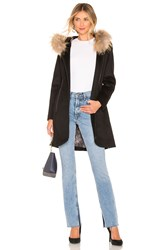 Soia And Kyo Charlena Coat With Fur Collar Black