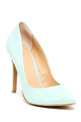 Joe's Jeans Erika Patent Leather Pump Green