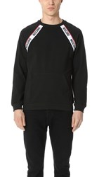 Moschino Logo Taped Pullover Black
