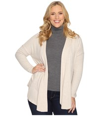 B Collection By Bobeau Curvy Plus Size Syden Relaxed Cardigan Oatmeal Women's Sweater Brown