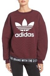 Adidas Women's Originals Trefoil Crewneck Sweatshirt
