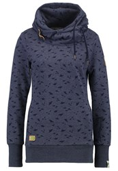 Ragwear Beat Sweatshirt Navy Mottled Dark Blue