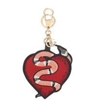 Gucci Heart And Snake Keychain Red